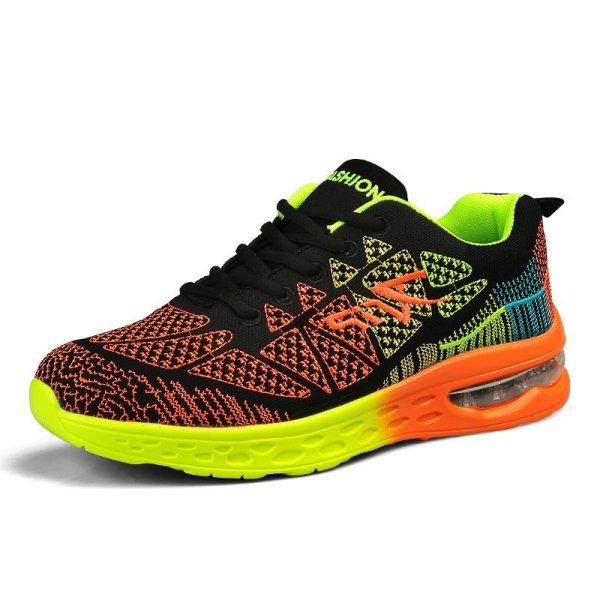 画像1: unisex breathable mesh shoes sneakers   メッシュエアークッションレースアップスニーカー  (1)