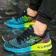画像4: unisex breathable mesh shoes sneakers   メッシュエアークッションレースアップスニーカー  (4)