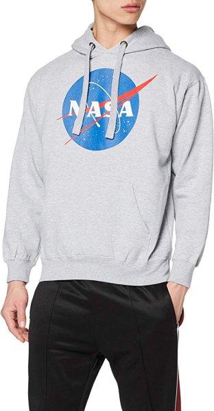 画像1: Nasa Men's Circle Logo T-Shirt Pullover Hoody Hooded  ナサ サークルロゴTシャツパーカープルオーバーフーディオーバーサイズルミナス フーディプルオーバートップスウェットユニセックス男女兼用 (1)