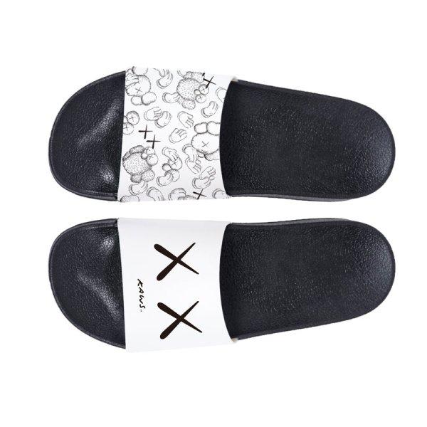 画像1: men's kaws  slippers flip flops  soft bottom sandals slippers   プラットフォームフリップフロップkawsサンダルシャワーサンダル ビーチサンダル ユニセックス男女兼用  (1)