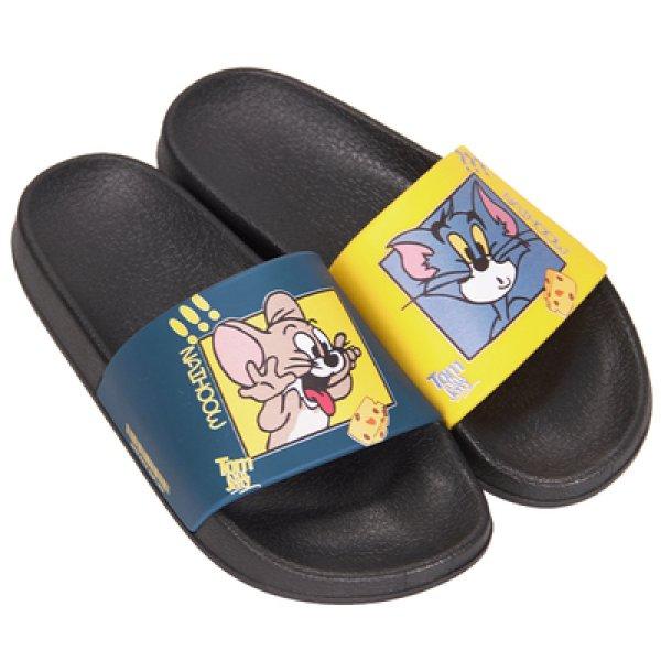 画像1: men's Tom & Jerry slippers flip flops  soft bottom sandals slippers (1)  プラットフォームトム&ジェリーフリップフロップサンダルシャワーサンダル ビーチサンダル ユニセックス男女兼用 (1)