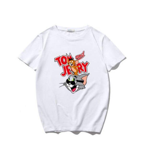 画像1: men's Sunglasses Tom &Jerry  loose short-sleeved T-shirt   サングラストム&ジェリー 2デザインオーバーサイズ半袖Tシャツユニセックス男女兼用 (1)