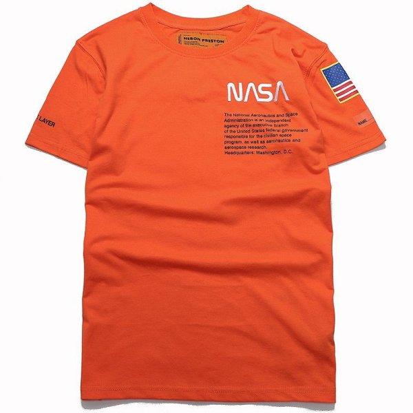 画像1: Men's  NASA space-limited Oversize T-shirt      NASA ナサスペースオーバーサイズ 半袖Tシャツユニセックス 男女兼用 (1)