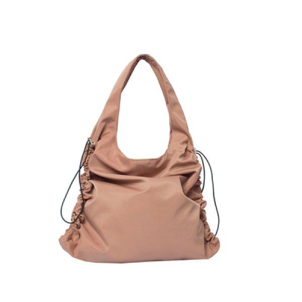 画像1: Woman's simple folding cloth bag waterproof large capacity nylon bag  折りたたみ防水ナイロンショルダーポータブルバッグハンドバッグ  (1)