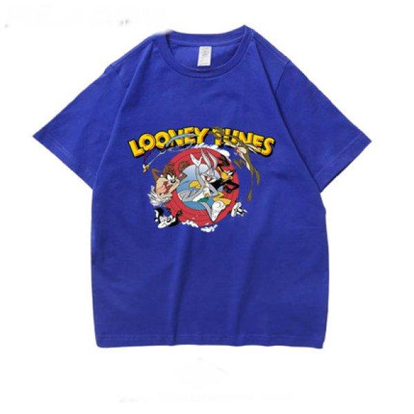 画像1: looney tunes rabbit myna t-shirt Unisex short-sleeved T-shirt    ルーニーチューン プリント オーバーサイズ 半袖Tシャツユニセックス 男女兼用 (1)