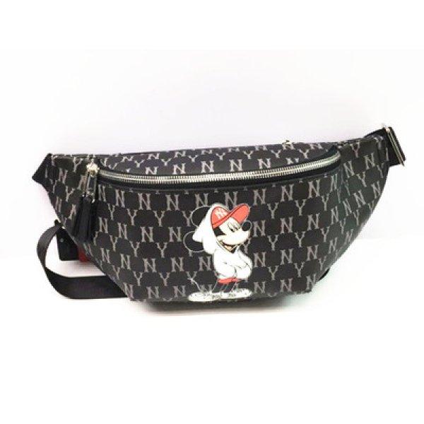 画像1:  men and women NY  Mickey Mouse Messenger bag   shoulder bag   ユニセックスNYニューヨークヤンキース斜め掛け用ショルダーバック ポシェット ウエストポーチバック バックパック  (1)