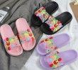 画像8: women's Smile flower flat sandals  slippers  スマイルフラワーフラットシャワーサンダル  (8)