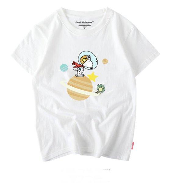 画像1: Snoopy & Woodstock Print T-shirt ユニセックス 男女兼用 スヌーピー&ウッドストックプリントTシャツ (1)