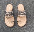 画像2: women's  pearl chain flat sandals  パール&チェーン付きフラットサンダル スリッパ   (2)