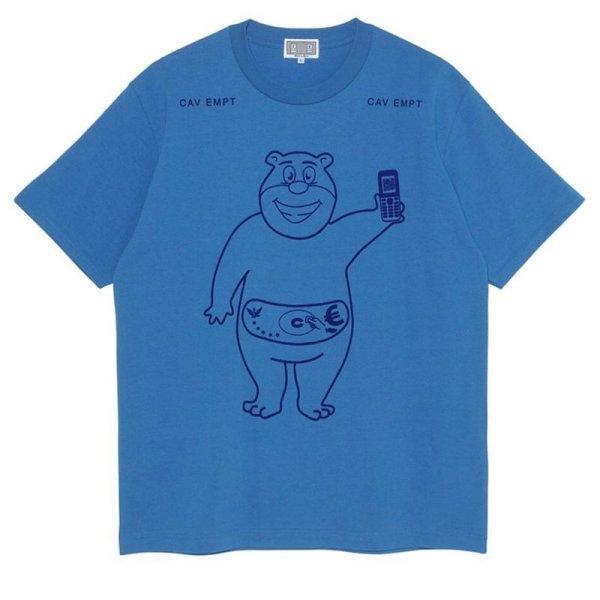 画像1:  hip-hop blue  bear  short sleeve T-shirt  men and women クマオーバーサイズ半袖Tシャツ ユニセックス 男女兼用 (1)