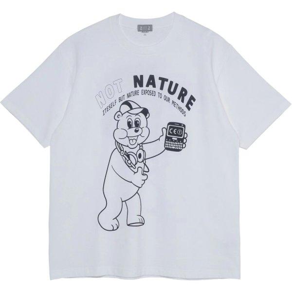 画像1: CAVEMPT NOT NSTURE bear  short sleeve T-shirt  men and women CAVEMPT NOT NSTUREクマオーバーサイズ半袖Tシャツ ユニセックス 男女兼用 (1)