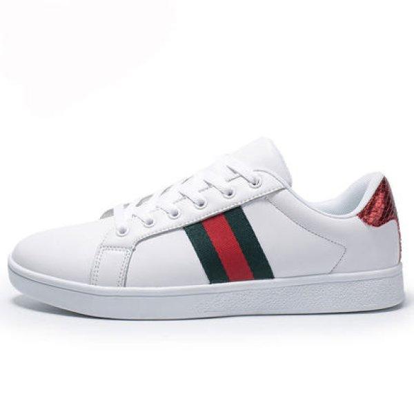画像1: Unisex Mens Simple Ace stripes mark sneakers ユニセックス メンズ シンプル ライン入り エース レースアップ スニーカー (1)