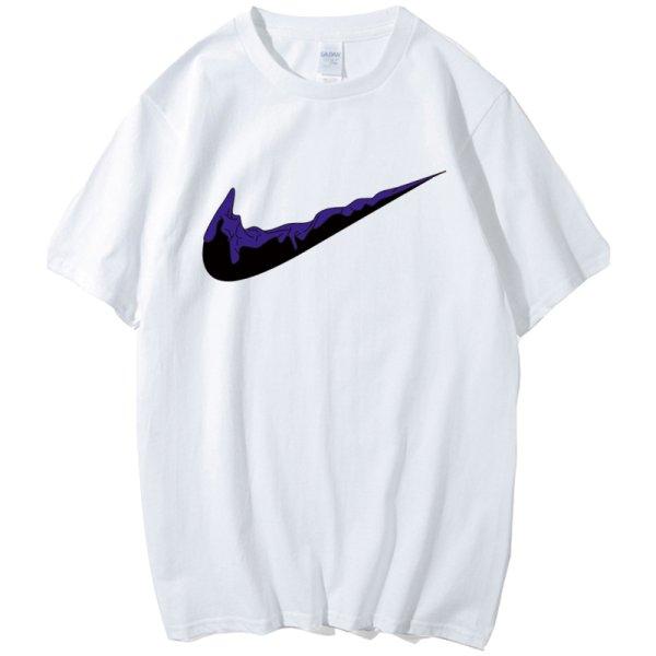 画像1: Unisex Men's  DistortedNIKE logo tshirt  ユニセックス 男女兼用 クラッシュナイキ 半袖Tシャツ (1)