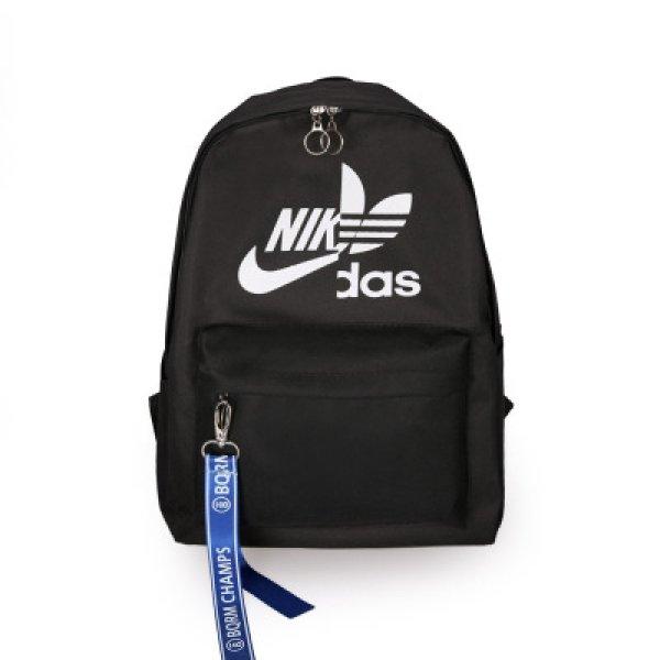 画像1: Unisex Men's NIKdas logo Nylon backpack ユニセックス 男女兼用 ナイダス ニキダス ナイロン リュックサック バックパック バッグ (1)