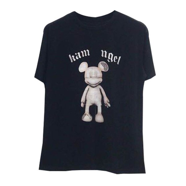 画像1: Unisex Men'sMickey  tshirt  ユニセックス 男女兼用skam angelsミッキーラウンドネックルーズ半袖Tシャツ (1)