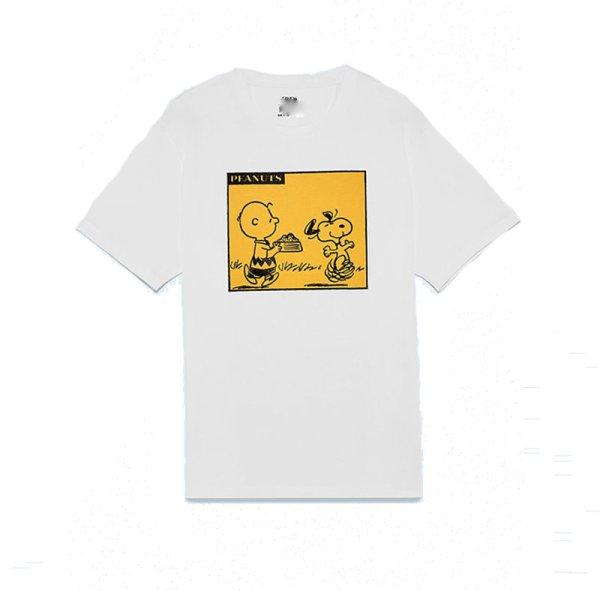 画像1: Unisex Men's Snoopy tshirt  ユニセックス 男女兼用  スヌーピーコミックラウンドネックルーズ半袖Tシャツ (1)