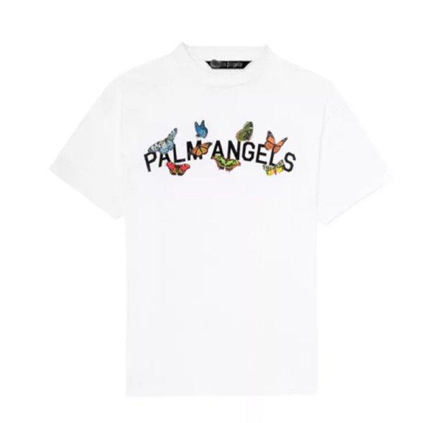 画像1: Unisex  loose butterfly Print Short Sleeve T-shirt     バタフライ 蝶プリントユニセックス 男女兼用ラウンドネック半袖Tシャツ (1)