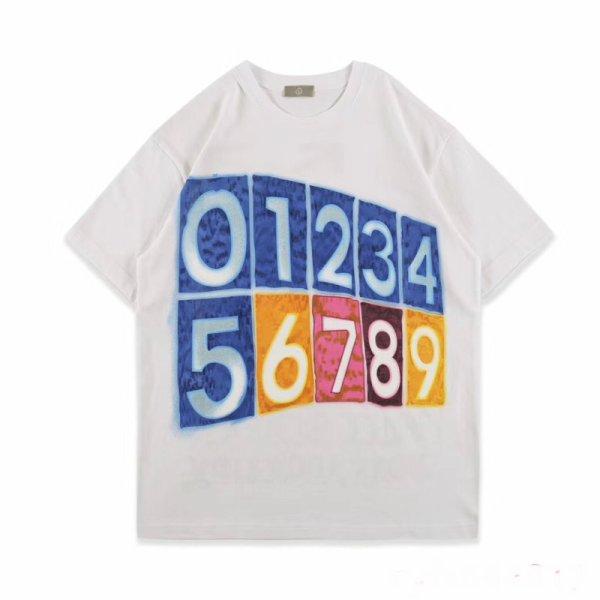 画像1: Numbering Back Smile Print Unisex Short Sleeve T-shirt    ナンバリング&スマイルプリントユニセックス 男女兼用ラウンドネック半袖Tシャツ (1)