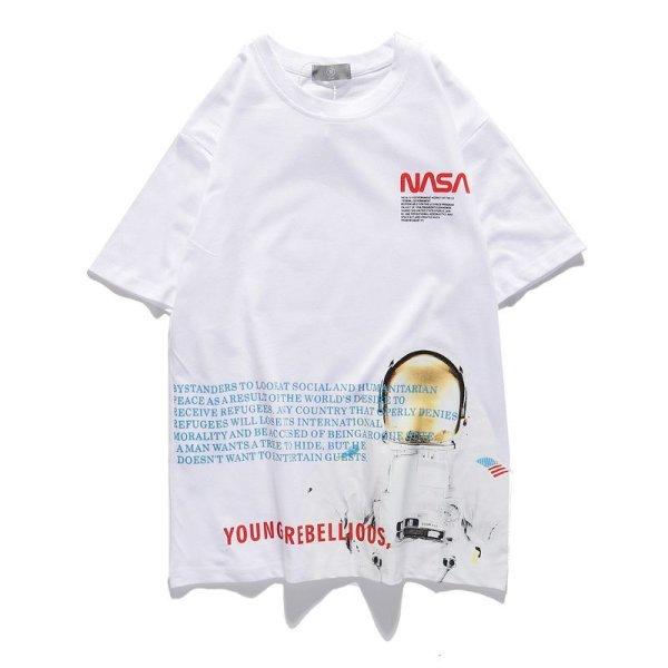 画像1: NASA Space astronaut short-sleeved T-shirt   ユニセックス 男女兼用 NASA ナサ宇宙飛行士プリント半袖Tシャツ (1)