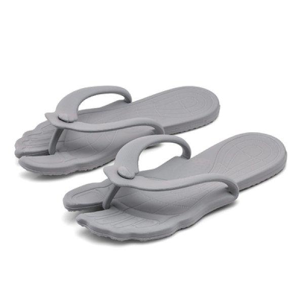 画像1: portable folding sandals slipper unisex   男女兼用ユニセックスフラット折りたたみソフトボトムフリップフロップサンダルシャワーサンダル ビーチサンダル  (1)