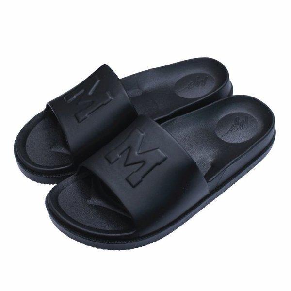 画像1: M logo soft bottom flat  flip flops  sandals slipper unisex   男女兼用ユニセックスフラットソフトボトムフリップフロップサンダルシャワーサンダル ビーチサンダル  (1)