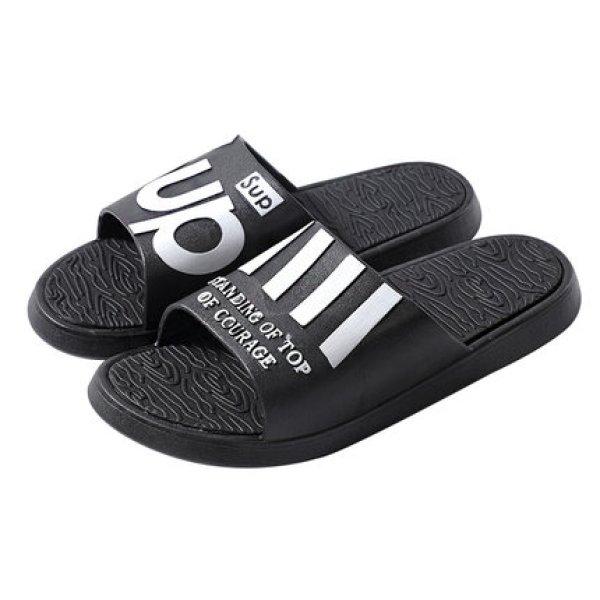 画像1: personality thick bottom non-slip sandals slipper unisex   男女兼用ユニセックスフラットソフトボトムロゴフリップフロップサンダルシャワーサンダル ビーチサンダル  (1)
