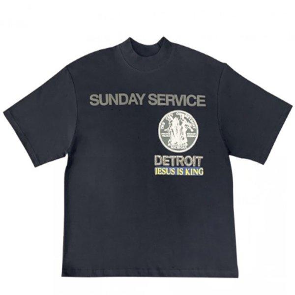 画像1: Kanye Jesus IS King oversized looseT-shirt    ユニセックス 男女兼用ジーザスオーバーサイズルーズ半袖Tシャツ (1)