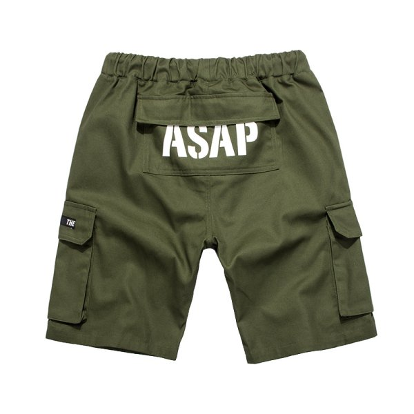 画像1: Unisex Men's military green casual pants  five-point half  pants  ユニセックス 男女兼用ミリタリーハーフパンツ (1)