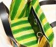 画像5: Woman's contrast color clown big TOTE messenger bag   コントラスト ストライプカラーピエロビッグトートバック 男女兼用 (5)