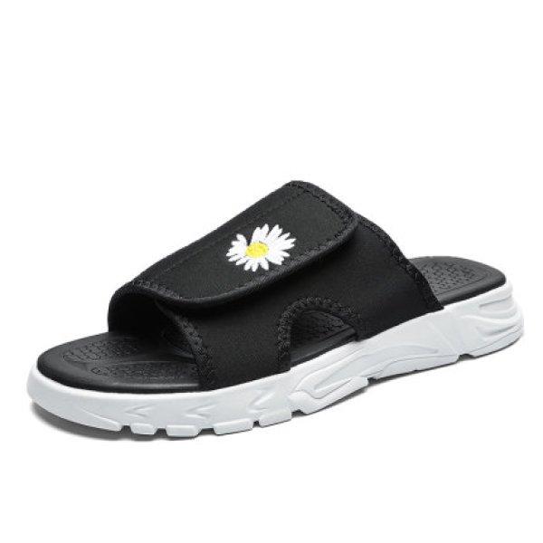画像1: Flip flop men's Daisy sandals slippers  フラットフリップフロップメンズデイジーサンダル  シャワーサンダル  (1)