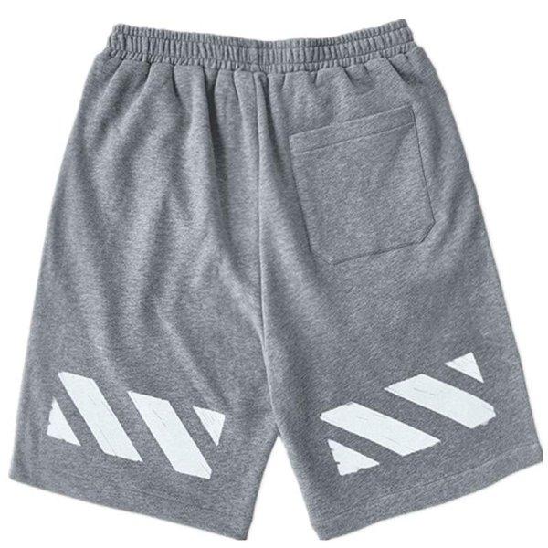 画像1: Unisex Men's With back line half shorts pantsユニセックス 男女兼用バックラインスウェットハーフショートパンツ (1)