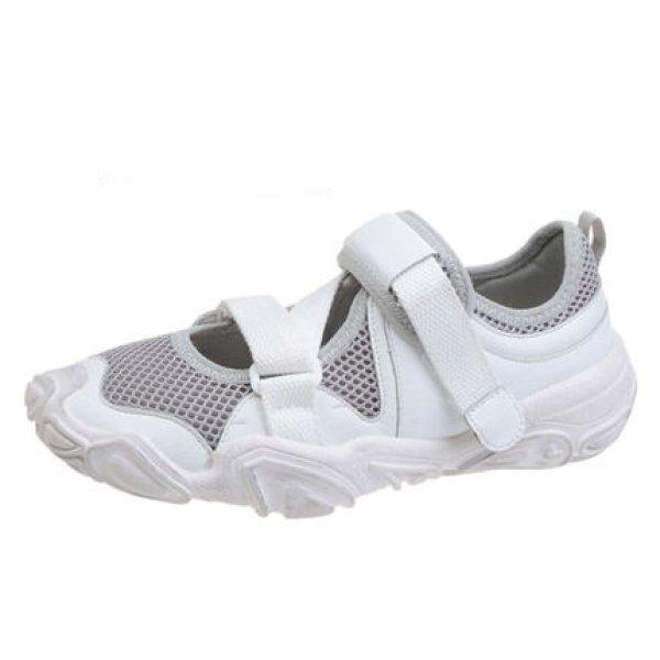 画像1: Women's Velcro Chunky Sole breathable Sneakers ベルクロチャンキーソール メッシュ スニーカー (1)