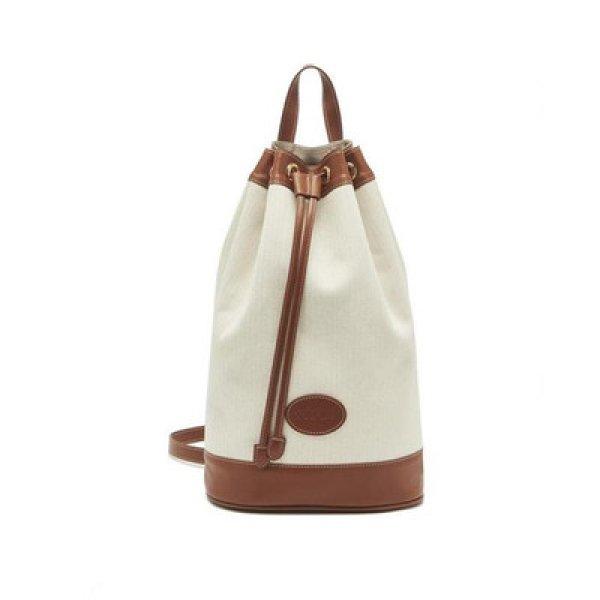 画像1:   stitching contrast color shoulder portable canvas backpack shoulder messenger bag  バケットポータブルキャンバスバックパック ショルダーメッセンジャーバッグ (1)