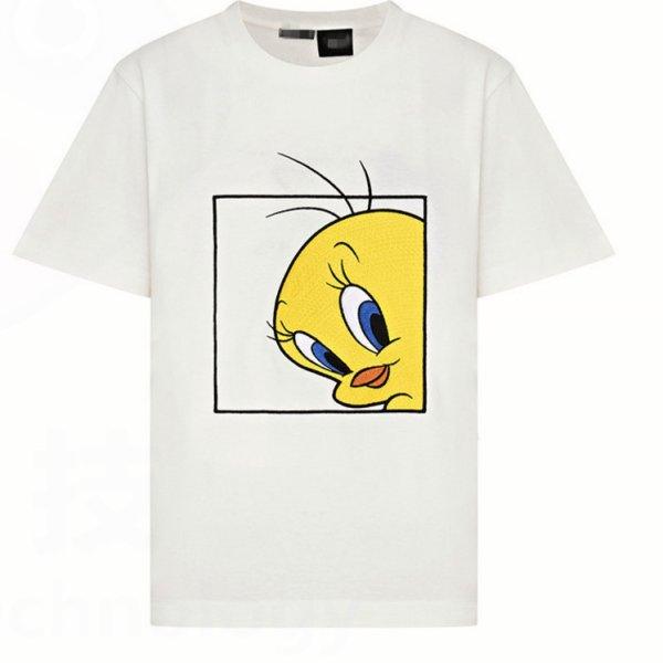 画像1: Tweety loose short sleeve T-shirt Looney Tunes ルーニー・テューンズ トゥイーティー 半袖Tシャツ プルオーバ ー (1)