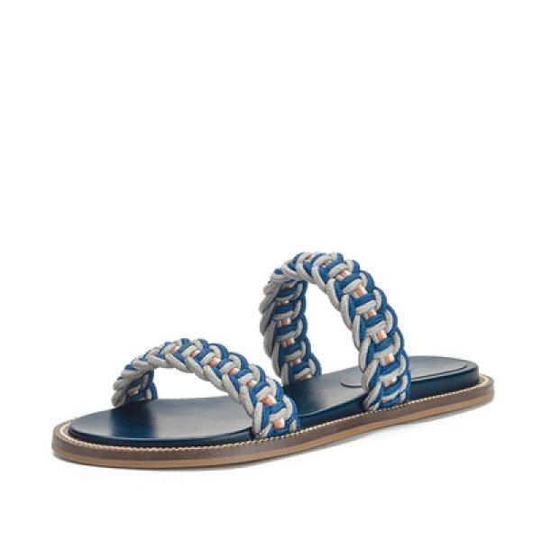 画像1: Women  minimalist flat  sandals  slippers  ロープ編みフラットサンダル スリッパ (1)