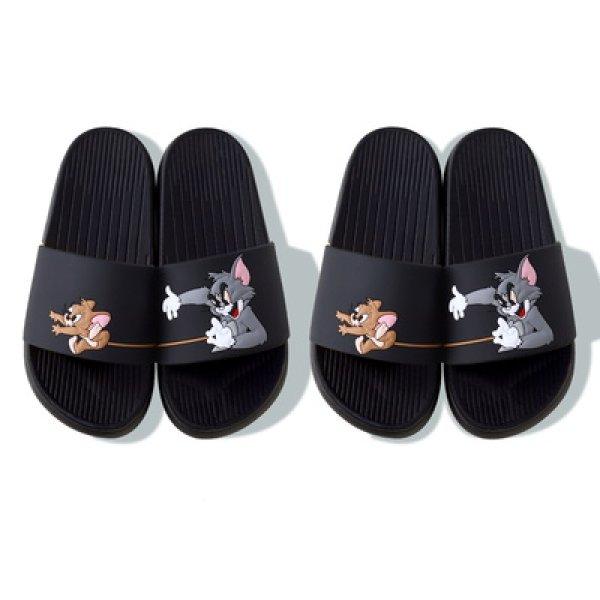 画像1: New men's Tom & Jerry slippers flip flops  soft bottom sandals slippers   プラットフォームトム&ジェリーフリップフロップサンダルシャワーサンダル ビーチサンダル ユニセックス男女兼用 (1)