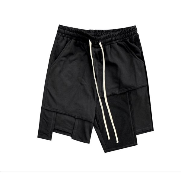 画像1: Unisex Men's  Irregular loose casual sports shorts  five-point pants half shorts pants ユニセックス 男女兼用スウェットiイレギュラーハーフショートパンツ (1)