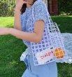 画像14: crown beaded handmade large capacity tote bag shoulder bag  shopping bag ハンドメイドクラウンビーズショルダートート エコバッグ (14)
