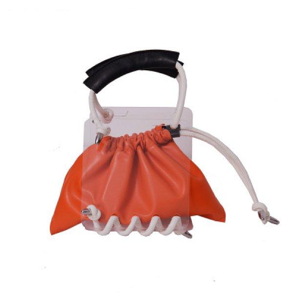 画像1: Woman's Transparent Cross Body Berg bag 透明アクリル板  コード ロープ ショルダーバッグ トートバッグ (1)