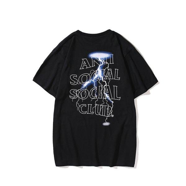 画像1: Men's Unisex lightning letter logo printing  Crew Neck T Shirt   ユニセックス 男女兼用ライティングプリント半袖Tシャツ (1)