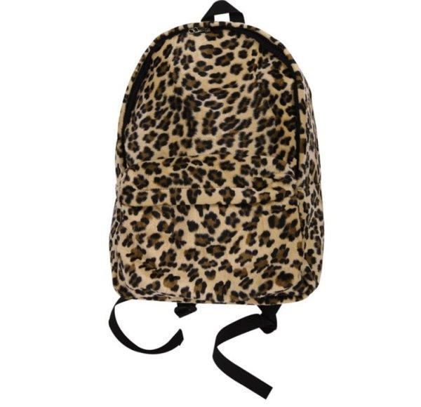 画像1: Women's  leopard canvas all-match trendy  backpack Tote shoulder Bag  レオパード ヒョウ柄バックパックショルダートートバッグ男女兼用 (1)