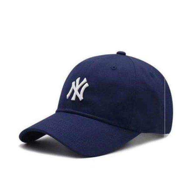 画像1: NY embroidery adjustable New York Yankees baseball cap ユニセックス NY ニューヨークヤンキース ベースボールキャップ 野球帽 帽子 (1)