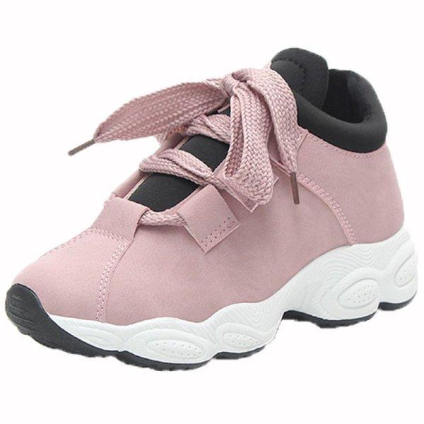 画像1: Women's Chunky Sole Lace Up   Sneakers チャンキーソール 厚底 レースアップスニーカー (1)