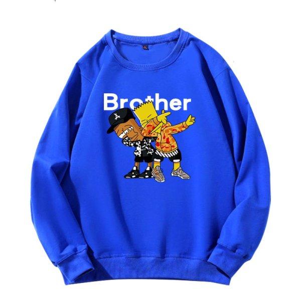画像1: Men's Unisex The Simpsons surrounding long-sleeved oversize pullover sweater   ユニセックス 男女兼用シンプソンズスローディングオーバーサイズ長袖トレーナ (1)