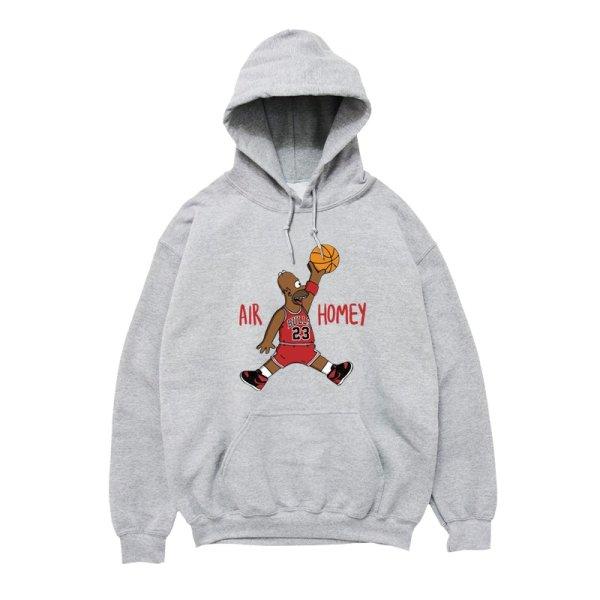 画像1: Men's Unisex The Simpsons AJ dunk long-sleeved oversize hooded pullover sweater   ユニセックス 男女兼用ダンクシンプソンズオーバーサイズ長袖フーディパーカー (1)