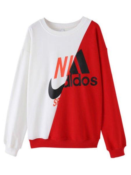 画像1: NIKdas Oversized 2tone logo sweatshirt sweat pullover ナイダス ニキダス スウェット トレーナー オーバーサイズ (1)