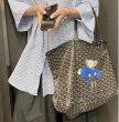 画像11:  Sesame Street graffiti painting elements Cartoon shopping  shoulder portable Tote Bag  セサミストリートディズニー ペイントトートショルダーショッピングバッグ (11)