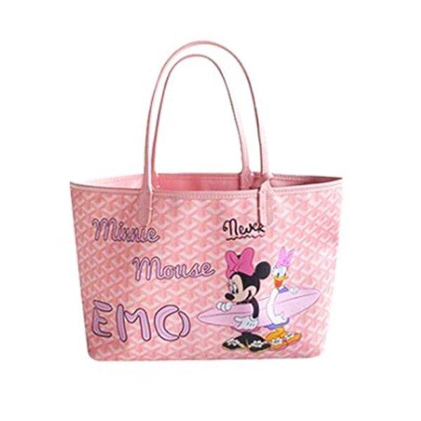 画像1: 即納 Mickey Mouse graffiti painting elements Cartoon shopping  shoulder portable Tote Bag  ミッキーディズニー ペイントトートショルダーショッピングバッグ (1)