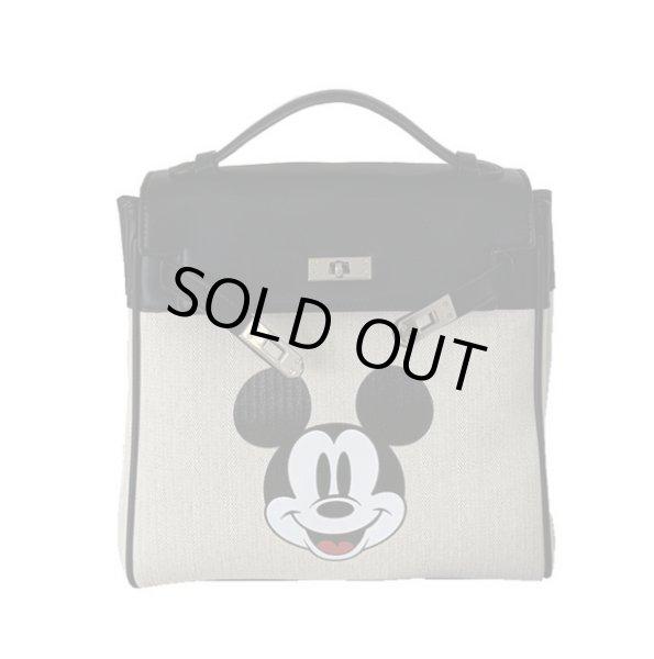 画像1: Mickey canvas  print backpack kelly bag shoulder tote bag ミッキーマウスプリントケリーバックパックトートショルダー3WAYバッグ (1)
