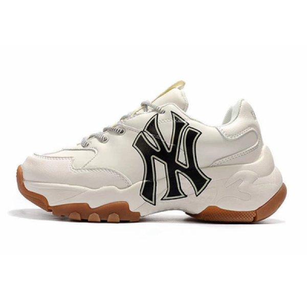 画像1: NY New York Yankees Bigball Chunky Sneakerユニセックス NY ニューヨークヤンキース 厚底 ベースボール ロゴ スニーカー (1)